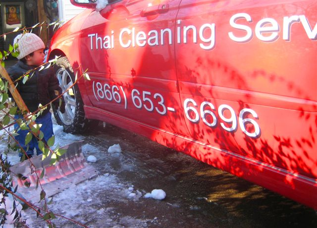 Thai Cleaning Service's company vehicle